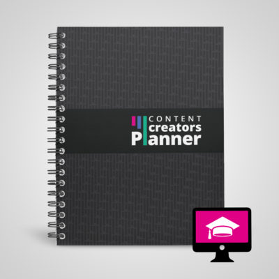 Physical Content Creators Planner book