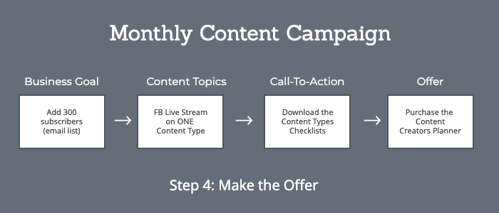 Content offer